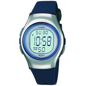 CASIO Lw-E11-2AVES - Reloj de mujer de cuarzo, correa de resina color azul claro (con cronómetro, alarma, luz)