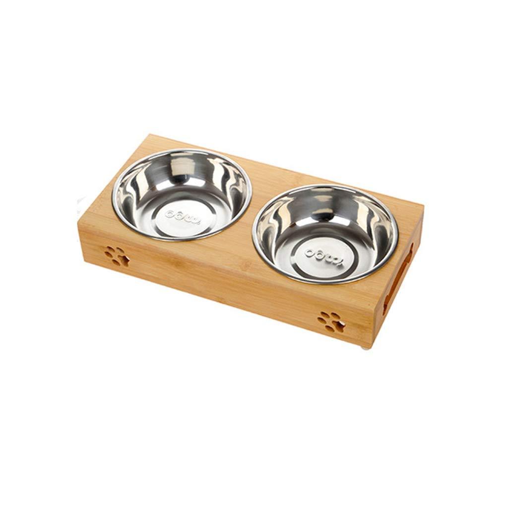 HLJ Ciotola per Cani in Acciaio Inox Moda Ciotola per Alimenti per Gatti Semplice Ciotola per Alimenti per Animali Domestici Comoda e Pratica (Dimensione   S 29.5  14  5cm)