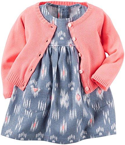 Carter's Baby Girls Dress Sets, Blue, 18 Months