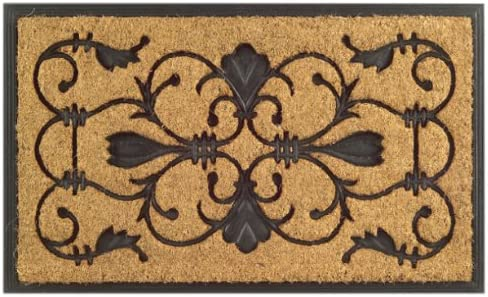 Imports Decor Rubber Back Coir Doormat, Brigoder, 18-Inch by 30-Inch
