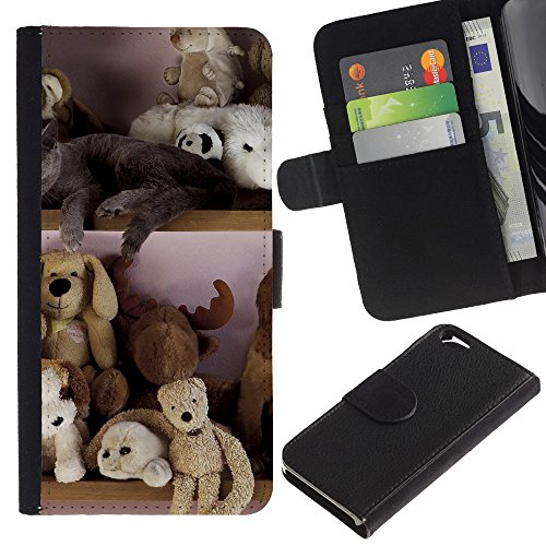 EuroCase - Apple Iphone 6 4.7 - toy bear stuffed animals teddy kids - Cuir PU Coverture Shell Armure Coque Coq Cas Etui Housse Case Cover