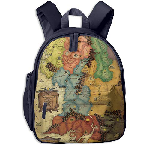 Vintage Game World Map Children Backpack Kids Book Bag Cute Cartoon 3D Child Durable School Bags Daypack Snack Nursery Bags For Baby Boy Girl
