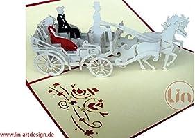 Lin Pop Up 3d tarjeta Tarjetas de boda invitaciones Tarjetas de ...