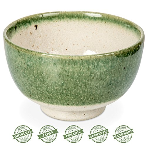 Tealyra - Matcha Bowl - Authentic Ceramic Made in Japan - Chawan from Japanese Master-Craft - Matcha Tea Cup Ceremony Use - Green by Tealyra (Image #1)