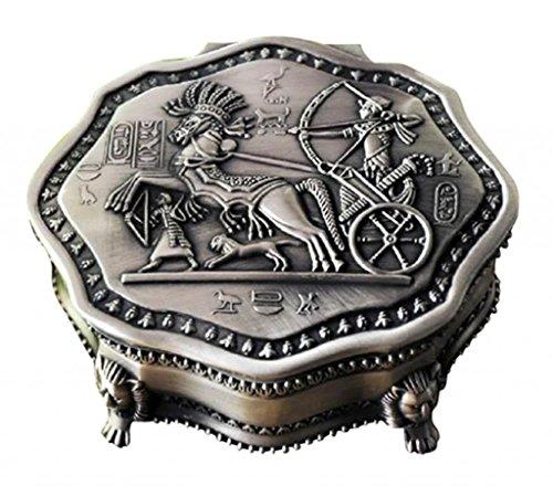 Unendlich U Luxus schmuckkasten Vintage Style Antique Schmuckkästchen für Damen/Mädchen,Reines Zinn-Schmuckstück,Silber