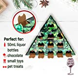 Grape Juice Mom | Alcohol Holiday Advent Calendar | Customizable 12 Perforated Ornament Windows - for Wine or Spirits, Miniature Bottles, White Elephant, Toys, Candies, Chocolates