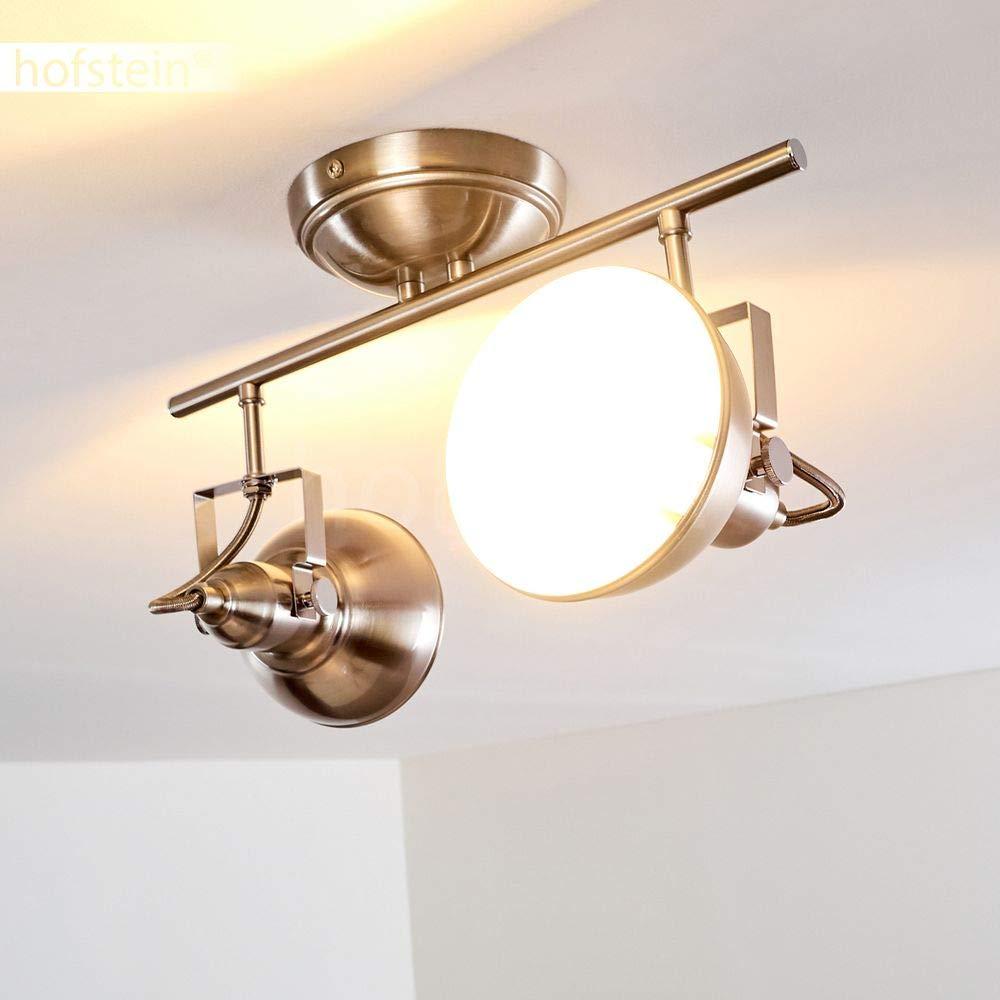 2-flammige aus Deckenleuchte Tina aus 2-flammige Metall kupferfarben - Zimmerlampe für Flur - Küche - Wohnzimmer - Schlafzimmer – Die einzelnen Spots sind beliebig dreh- und schwenkbar 8f20b2