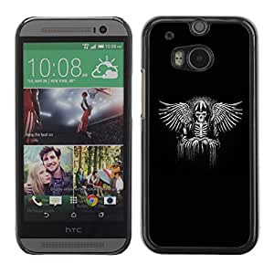 Shell-Star Arte & diseño plástico duro Fundas Cover Cubre Hard Case Cover para HTC One M8 ( Black Wings King Throne White Angel )