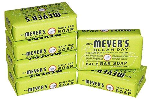 Mrs. Meyer s Clean Day Daily Bar Soap Lemon Verbena Pack of 6