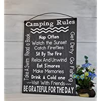 Camping Rules, Camping Sign, Gift for the Camper, Campfire Sign, Christmas Gift, RV Sign,Camping Decor, Camping Party, Camping Gifts
