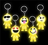 2'' LIGHT-UP EMOTICON BUDDY KEYCHAINS, Case of 288