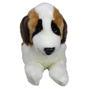 Amazon Com Bocchetta Plush Toys St Bernard Dog Lying Stuffed Animal