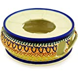 Polish Pottery Heater 7-inch Golden Tulip UNIKAT