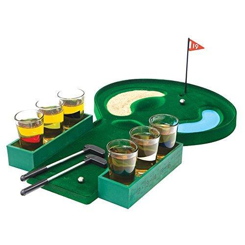 Home Essentials & Beyond Funville Golf Shot Glass Set, Clear by Home Essentials & Beyond