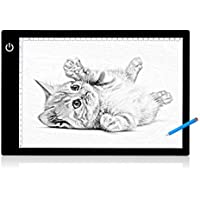 Gledto Tracing Light Box LED Drawing Light Pad 17 A4 Ultra-thin Artcraft Tracing Board USB Powered with Stepless Bright Control for Artists Kids Drawing, Sketching, Animation, Designing X-ray Viewing