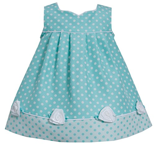 [Bonnie Baby Baby-Girls Newborn Dot Coat and Dress Set, Aqua, 3-6 Months] (Baby Easter Dresses)