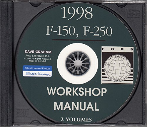 1998 FORD F-150 F-250 TRUCK, PICKUP WORKSHOP REPAIR & SERVICE MANUAL CD For Lariat, Standard, XL, XLT, Extended Cab NOT SUPER DUTY