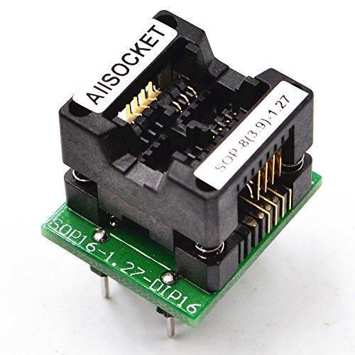 ALLSOCKET SOP8 SOIC8 SO8 SOP8 to DIP8 Programming adapter Test Socket Pitch 1.27mm Width 3.9 mm (150mil) S-SOP8(16)-1.27 S-OTS8(16)-1.27-03 Very
