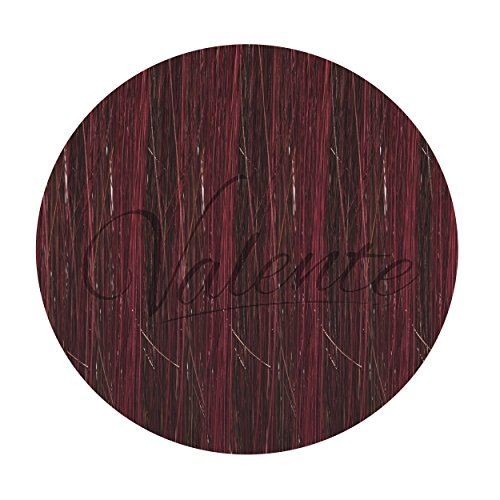 40 Pack Valente Inc 20-Inch Human Hair Tab Extensions – Professional Use Premium Remy Tape-In Hairpieces – Add Natural Volume & Length (V -230 Midnight Black & Burgundy)