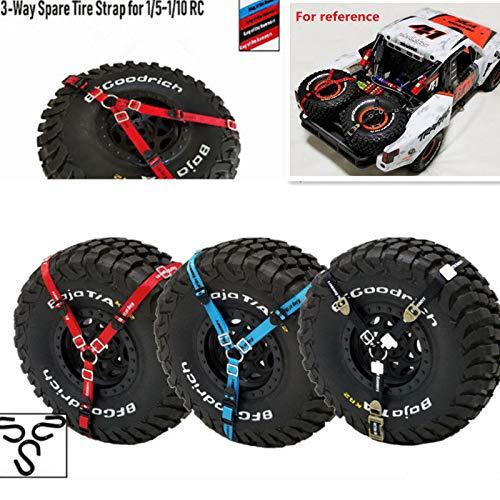 FidgetGear RC 3-Point Spare Tire Tie Down Strap for 1/5 1/10 Crawler Car Traxxas TRX-4 /UDR Black