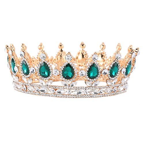 (Stuff Crystal Crown Tiaras Prom Party Wedding Bridesmaid Hair Piece with Bobby Pins)