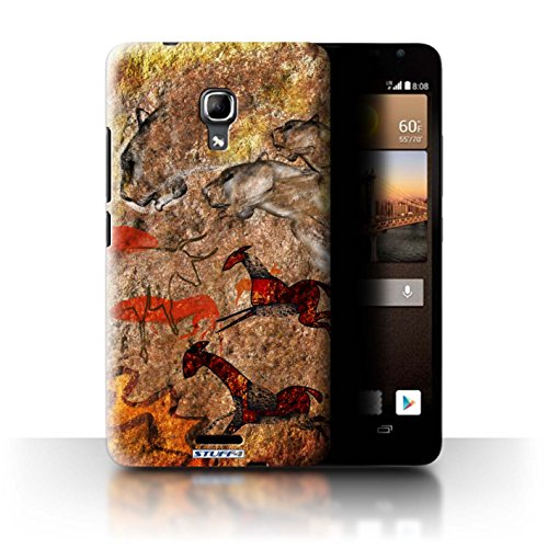 Ascend Collection - Stuff4 Cave Painting Collection Case for Huawei Ascend Mate2 4G, Stampede/Red