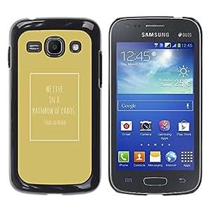 TopCaseStore / la caja del caucho duro de la cubierta de protección de la piel - Cezanne Quote Chaos Gold Poster - Samsung Galaxy Ace 3 GT-S7270 GT-S7275 GT-S7272
