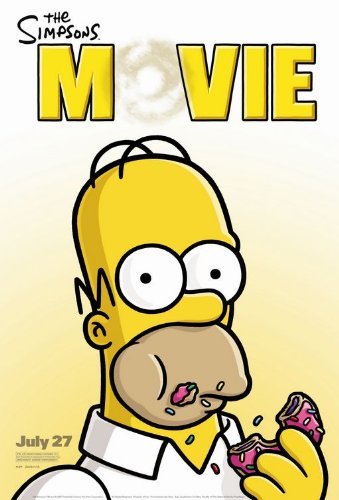 Click for larger image of THE SIMPSONS 13.5x20 INCH PROMO MOVIE POSTER