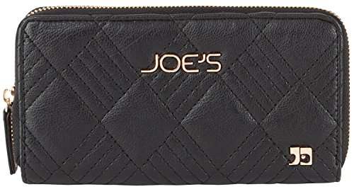 Fully Lined Quilted Wallet - Joe's Jeans Patch Quilted Zip Around Wallet - Black