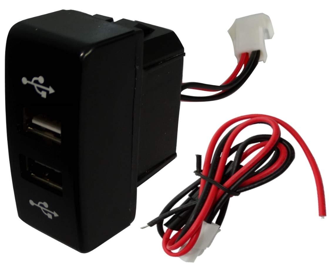 AERZETIX Prise module double USB 5V chargeur pour tableau de bord C16998