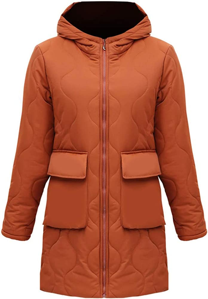 Dotoo Winter Jacket Womens Cotton Middle-Aged Thick Warm Cotton Suit Long Section