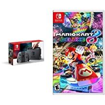 Nintendo Switch Console - Grey Joy-Con Edition & Mario Kart 8 Deluxe - Switch