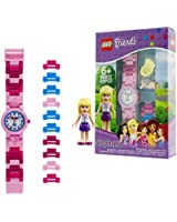 LEGO Watches Stephanie Kids Buildable Watch with Link Bracelet and Minifigure