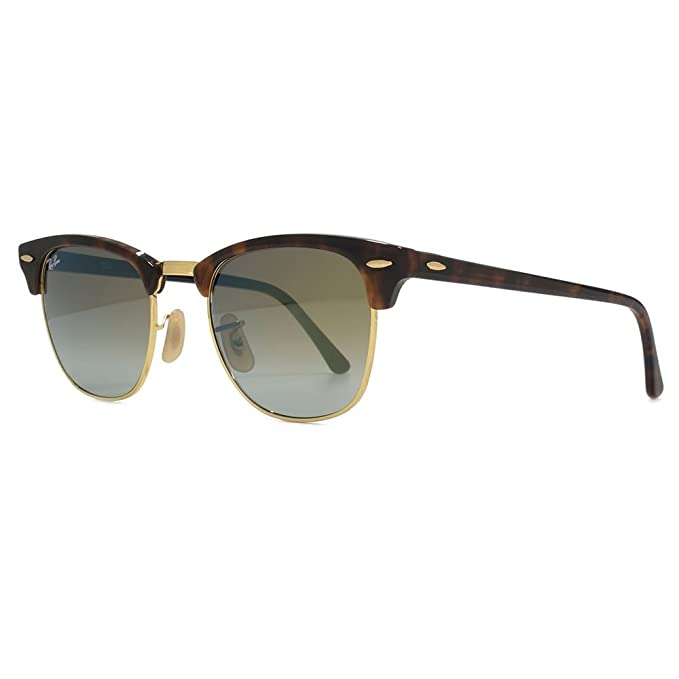 f5c35380c5 Ray-Ban Gafas de sol CLUBMASTER en verde la Habana rojo brillante destello  degradado RB3016 990/9J 51 51 Green Gradient Flash Mirror: Amazon.es: Ropa  y ...