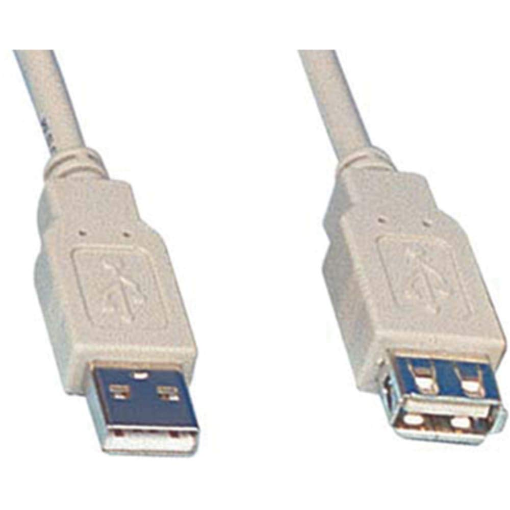 Cable; USB Type-A Plug; USB Type-A Jack; USB 2.0 Cbl; 15ft; For computer Pack of 2