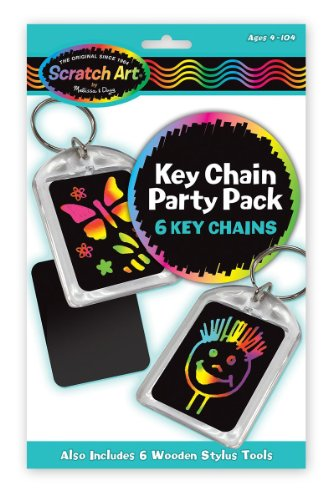 Key Chains: Scratch Art Party Pack + FREE Melissa & Doug Scratch Art Mini-Pad Bundle [59213] by Melissa & Doug