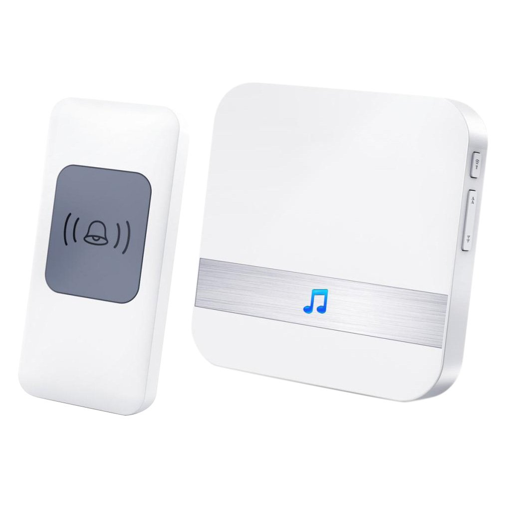 Fityle Wireless Plug Portable Door Bell Chime MP3 52 Chimes Welcome Bell Infrared Sensor High Tech Smart