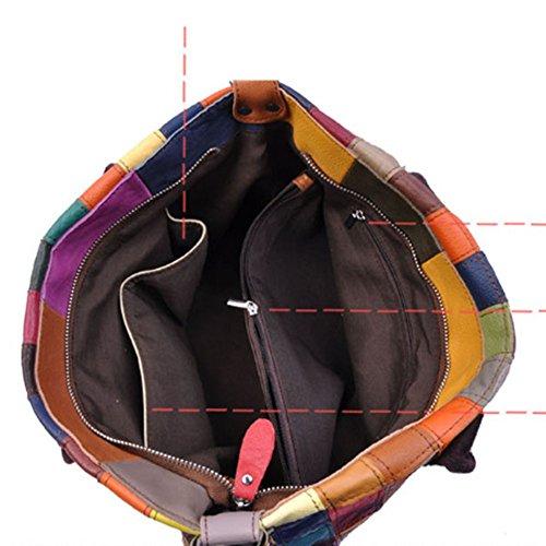 Eysee - Cartera de mano para mujer Varios colores multicolor 35cm*25cm*11cm negro