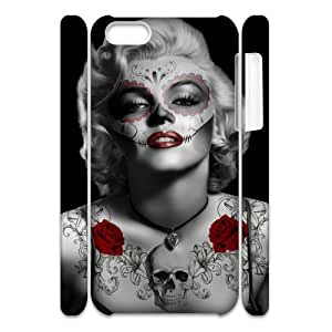 Cool Painting Zombie Marilyn Monroe Unique Design 3D Cover Case for Iphone 5C,custom cover case case693271