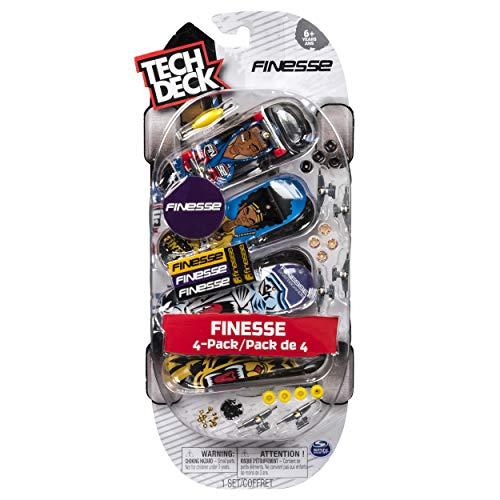 Tech Deck FINESSE Skateboards 96mm Fingerboard 4 Pack