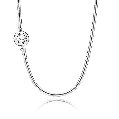 nuevo producto a7ace e4447 Pandora Collar cadena Mujer plata - 596004-60: Amazon.es ...