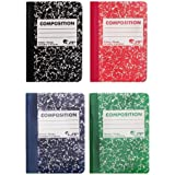80 Sheet Mini Composition Book Assorted Colors [Set of 6]