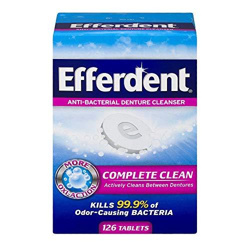 Efferdent Original Anti-Bacterial Denture Cleanser Tablets 126 ea (Pack of 2)