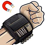 Magnetic Wristband Best Gifts For Men, Magnetic Tool Belt for Men Gift, Super Strong Magnets, Wrist Tool Holder for Holding Screws, Nails, Drill Bits, Best Gift for Men, Dad, DIY Handyman.(1)