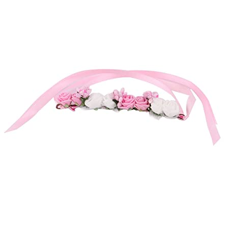 Amazon.com : eDealMax Señora Fiesta de la espuma Floral 8 Heads Artificial de la muñeca Flor de la decoración de DIY Bailar Rosa Blanco : Baby