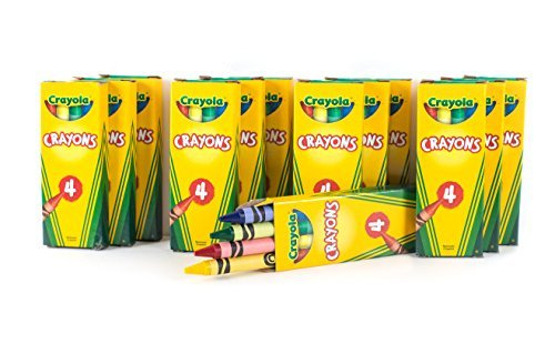 - 12 Boxes Crayola 4-ct. Crayon Party Favor Pack Colors