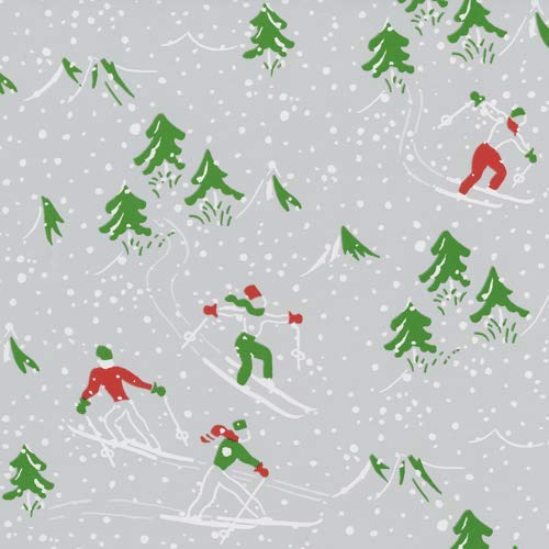 Wrapping Paper 8 Foot Roll Christmas Gift Wrap Ideas Winter Sports Silver, 2 Rolls (Paper Sports Wrapping Christmas)
