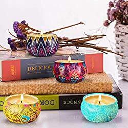 YMING Scented Candles Gift Sets - Natural Soy Wax