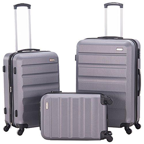 Pianeta Expandable Spinner Luggage Sets Lightweight HardShell Suitcase Set 3pcs 20inch Carry...