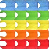 Waterproof Baby Bibs with Snaps, Unisex, Gift Box 20 Pack, Solid Colors